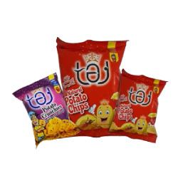 'TAJ' POTATO CHIPS & CRUNCHIES